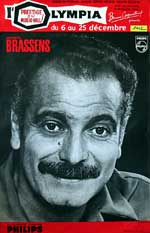Brassens Affiche concert Olympia